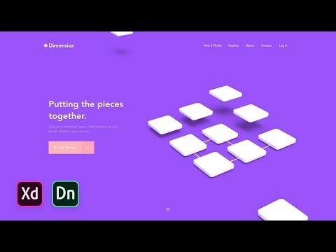 Adobe XD & Adobe Dimension Web Design Tutorial