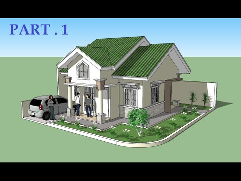 Sketchup tutorial house design PART 1