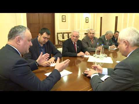 Igor Dodon a avut o întrevedere cu Consiliul Bătrînilor din Găgăuzia.