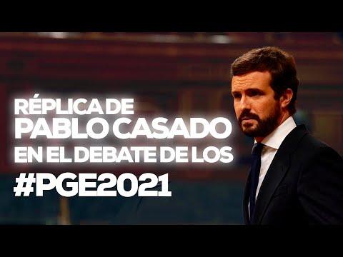 Réplica de Pablo Casado en el debate de los #PGE2021