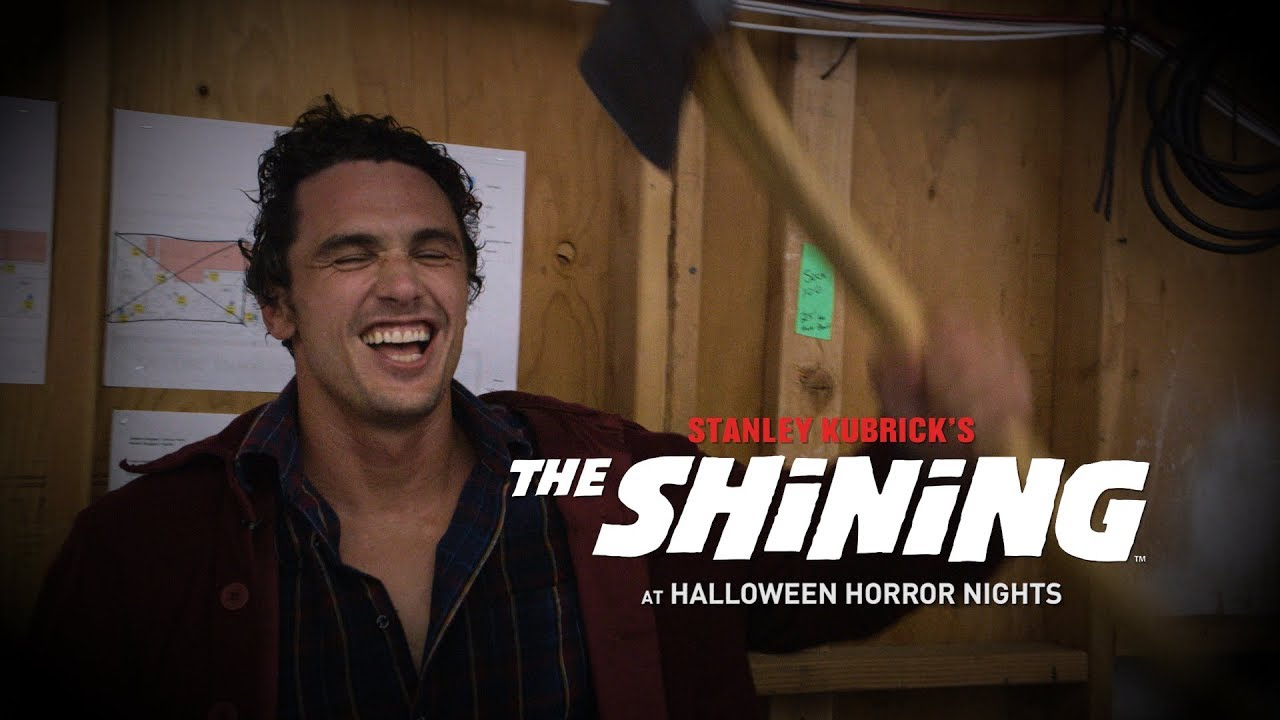 James Franco and Chris Bauer take a swing at scaring people at Halloween Horror Nights