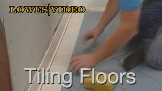 Install a Ceramic Tile Floor in the Bathroom by yourself