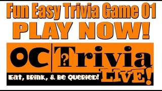 OC Trivia LIVE! Fun Easy Trivia 01 Questions | PLAY THIS GAME!