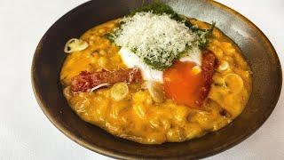 Master Chef Joo Won makes Korean Kimchi Risotto   Food Busker by Food Busker