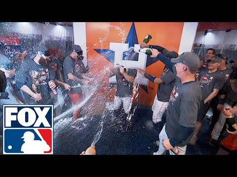 FOX MLB Crew reacts to Houston's locker room celebration | 2017 MLB Playoffs | FOX MLB