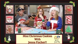 Mini Christmas Cookies With Jenna Fischer! | Baking With Josh & Ange