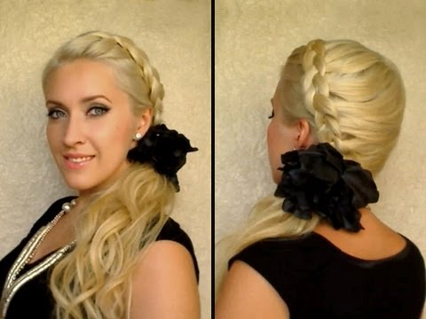 party hairstyle - I'm wearing Glam Time clip in hair extensions http://www.GlamTimeHair.com and I talk about them in detail in http://www.youtube.com/user/lilithedarkmoon?feat...