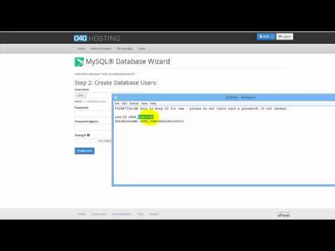 how to setup a database in cPanel