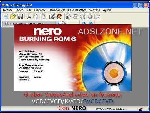 Como crear un SVCD - Super Video CD con Nero Vision 9