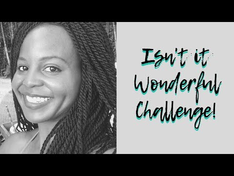 Isn't it Wonderful Challenge!