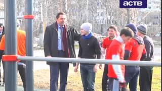 Новые тренажеры для воркаута установили на стадионе лицея №1 в Южно-Сахалинске