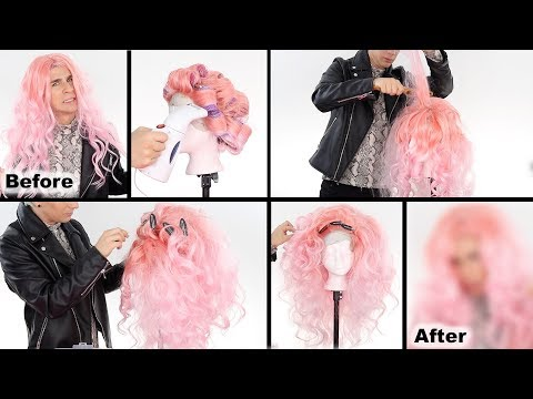 Hairdresser - HOW TO CREATE AN EPIC DRAG WIG WITH CHEAP WIGS!