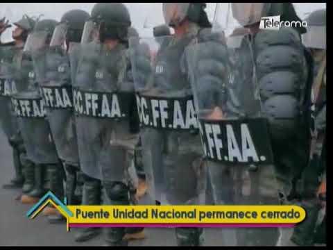 Puente Unidad Nacional permanece cerrado