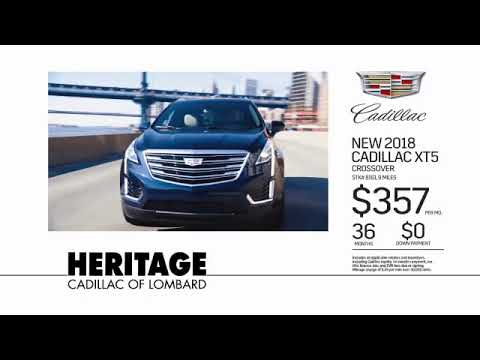 Heritage Cadillac May XT5 Lease: 2018 XT5 with $0 Down Payment