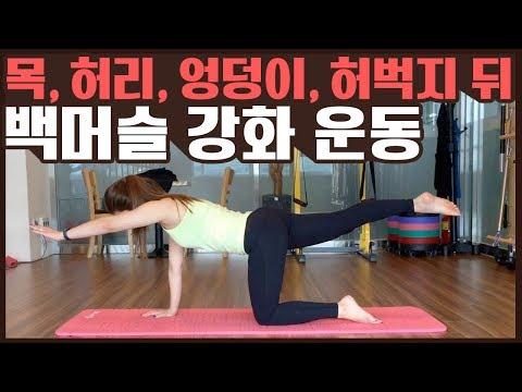 목,등,허벅지 근육을 강화해주는 운동!