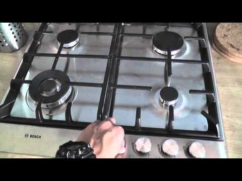 Bosch PCH615B90E gas hob unboxing + test