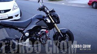 7. Honda Grom with Yuminashi 150cc Bore Kit and Turbo