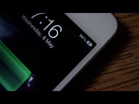 how to put a battery percentage on iphone 5