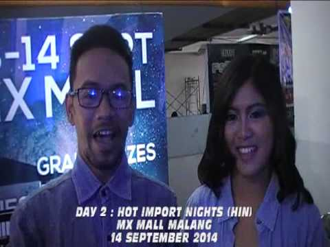 MC Elfara 999 : Iand Pryanto And Via Lifia On Hot Import Nights (HIN) 2014 MX Mall Malang