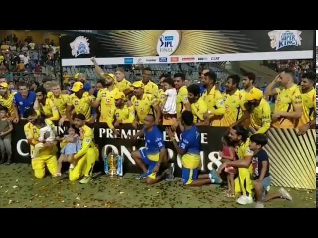 DJ Bravo Dance And  Mahendra Singh  Dhoni celebration IPL  2018 WINNER