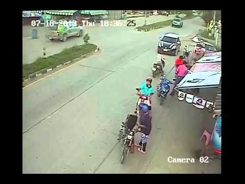 A live accedent from india CCTV Footage