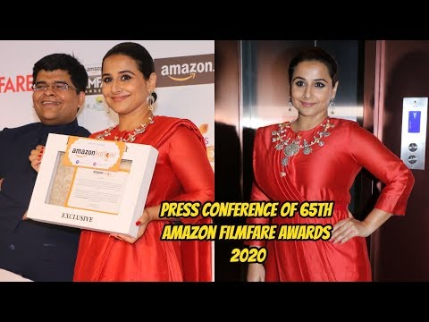 Vidya Balan At Press Conference Of 65th Amazon Filmfare Awards 2020