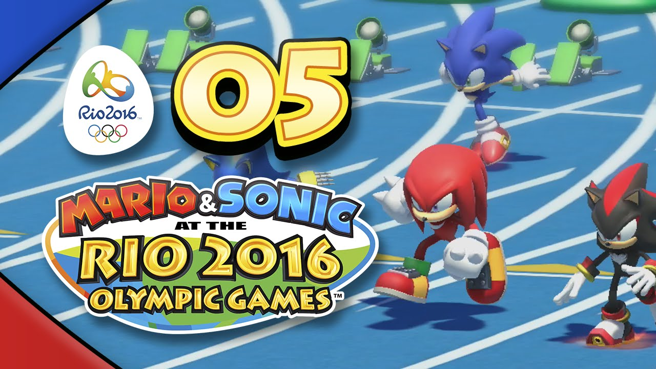 Mario and Sonic at the Rio 2016 Olympic Games for Wii U: Part 05 – 100m Dash (4-Player)