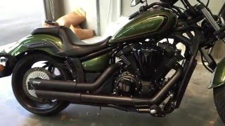 8. Vance and Hines Twin Slash Staggered Install on Yamaha Stryker