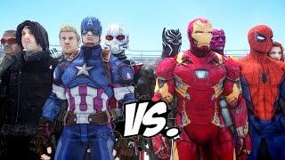 Video Team Captain America vs Team Iron Man - Civil War Battle MP3, 3GP, MP4, WEBM, AVI, FLV Juni 2018