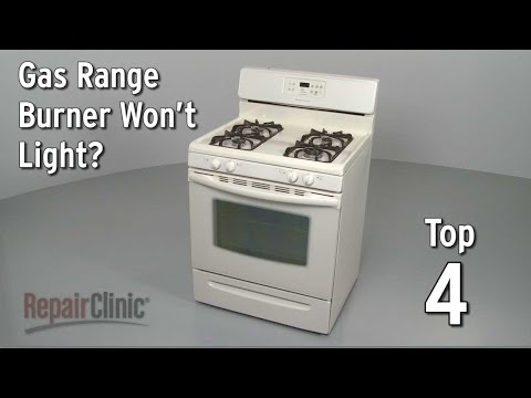 Top Reasons Gas Burner Won't Light — Gas Range Troubleshooting