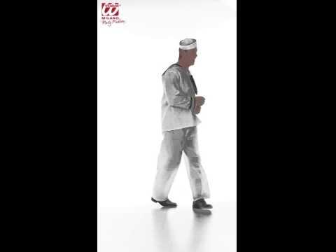 Déguisement de marin avec blouse, pantalon et chapeau