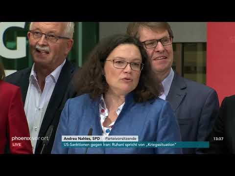 Pressekonferenz von Andrea Nahles zur Klausurtagung d ...