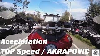 10. Yamaha MT-09 / FJ-09 Tracer 2016, Acceleration, TOP Speed, AKRAPOVIC Exhaust Sounds