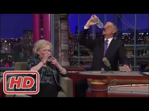 [Talk Shows]Betty White - Drinks Vodka & starts hugging - David Letterman