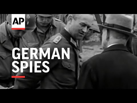 German Spies Executed - 1945 - NO SOUND