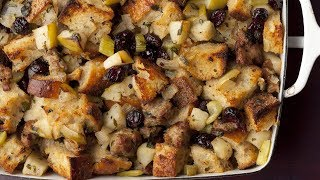 Sausage and Herb Stuffing-Food Network - YouTube