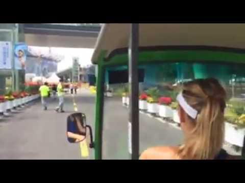 Maria Sharapova Driving