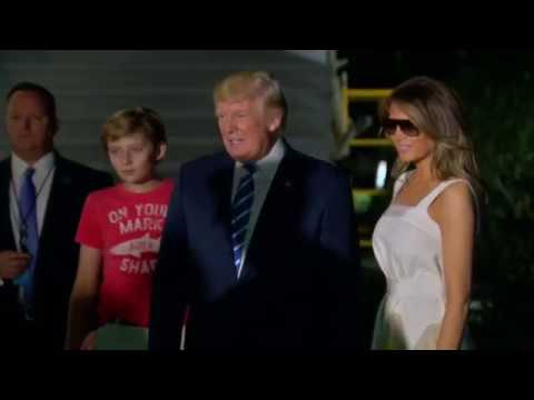 First Family Arrives Back in DC to Cheering Crowd