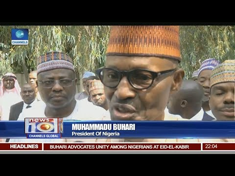 Buhari Joins Other Muslim Faithful At The Daura Eid Ground