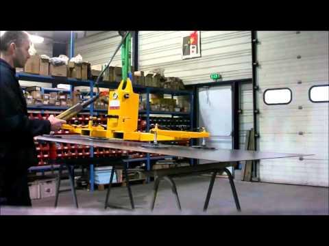 Fonctionnement d'un palonnier horizontal à 4 ventouses