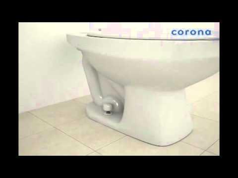 Instalación Taza con fluxómetro Corona Colombia