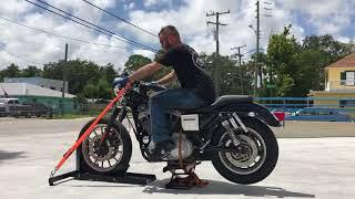 8. 2000 Harley Davidson Sportster Sport XL 1200S (black) 1975 Fallen Cycles