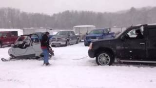 3. Ski-Doo Elite tows Duramax Escalade and Trailer