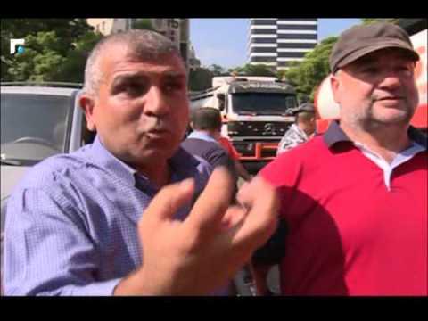 تحرك لاتحاد نقابات النقل العام امام وزارة الداخلية