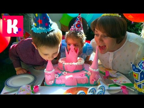2 000 000 подписчиков подарки для детского дома и Катя принцесса Золушка на карете с шариками (видео)
