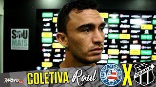 [24.10.2016] Entrevista coletiva com o volante Raul que fala sobre seu desempenho nas partidas diante de Náutico e Bragantino...