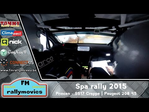 Spa rally 2015 | ONBOARD | Princen - KP17 Creppe (Peugeot 208 T16 R5) [HD]