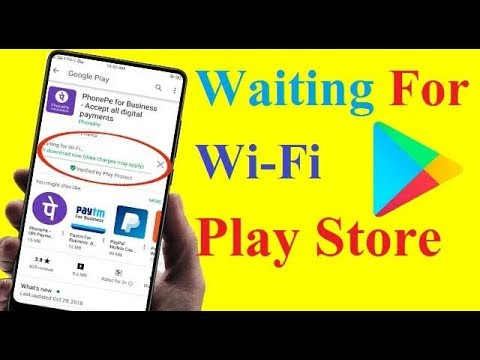How to fix Waiting for Wi Fi Play store in Android/Tablet