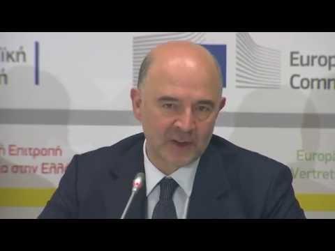Η ομιλία του Επιτρόπου Π. Μοσκοβισί