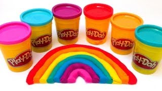 Play Doh rainbow How to do it easy play dough - unboxingsurpriseegg